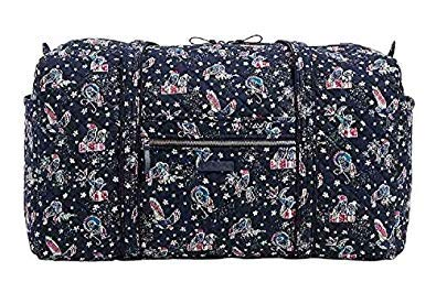 Vera Bradley Iconic Large Travel Duffel in Holiday Owls, Signature Cotton