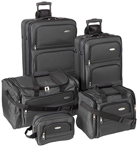 Samsonite Outpost 5 Piece Nested Luggage Set (Charcoal)