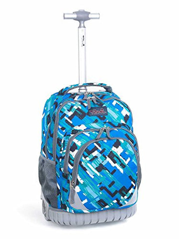 Tilami New Antifouling Design 18 Inch Oversized Load Multi-Compartment Wheeled Rolling Backpack