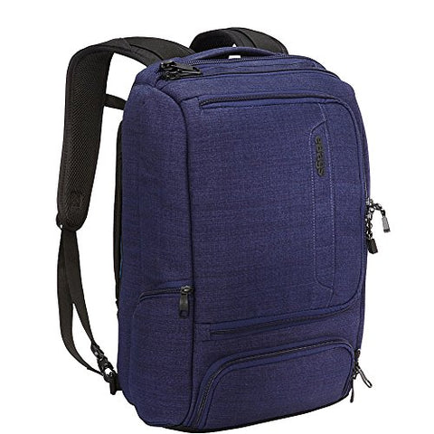 "eBags Professional Slim Laptop Backpack for Travel, School & Business - Fits 17"" Laptop - Anti-Theft - (Brushed Indigo)"