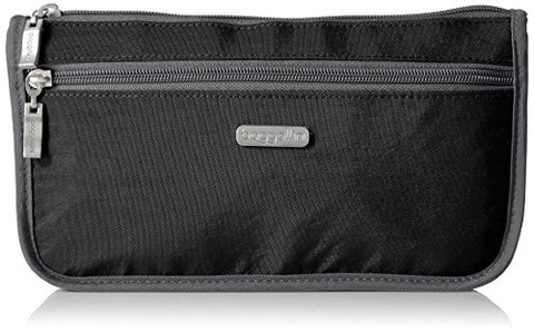 Baggallini Large Wedge Case, Black/Charcoal