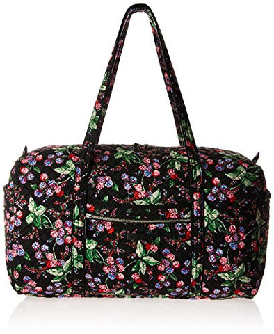 Vera Bradley Women's Iconic Large Travel Duffel-Signature, Winter Berry, One Size