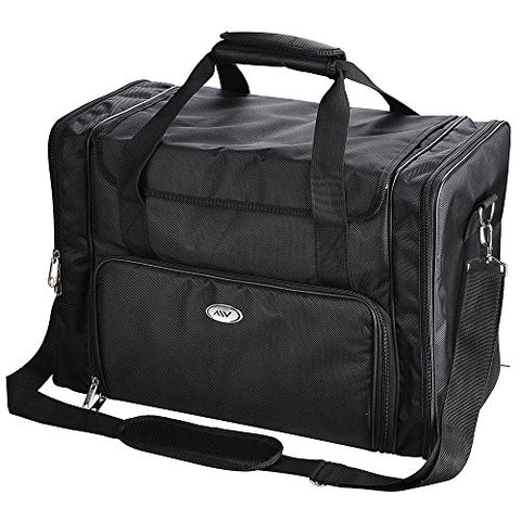 AW 1200D Oxford Pro Black Soft Makeup Train Bag Case Pockets 17x9x12 Artist Cosmetic Organizer