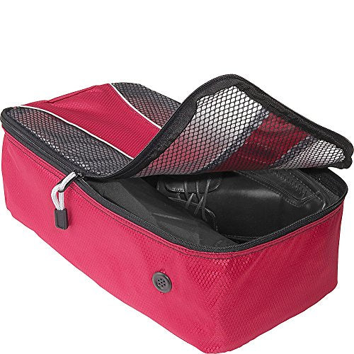 eBags Shoe Bag - Travel Packing Cube for Shoes - (Raspberry)