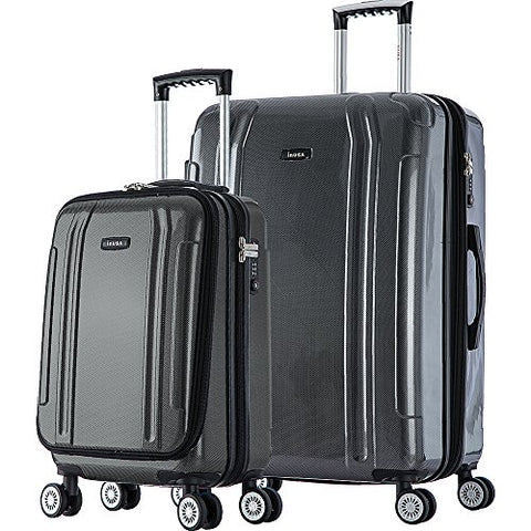 "Inusa Southworld 19"" & 23"" 2-Piece Hardside Spinner Luggage Set"