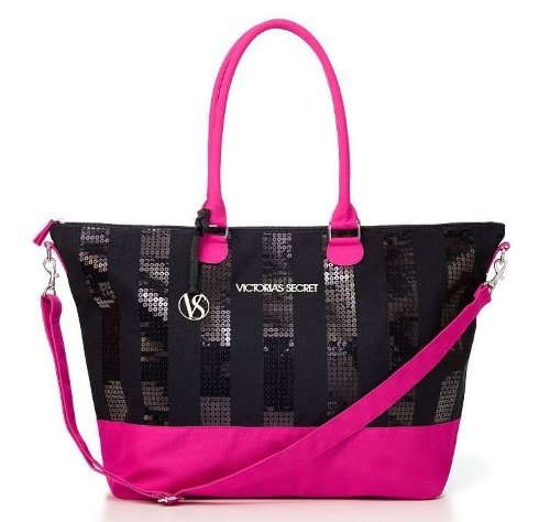 Victoria'S Secret Black Friday 2013 Limited Ed. Weekender Bag Black/Pink