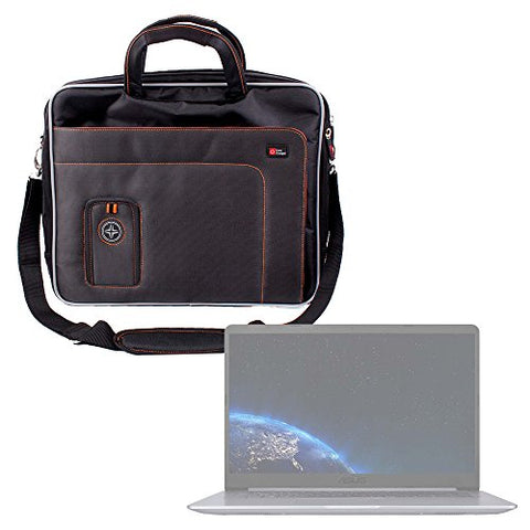 DURAGADGET Black and Orange Padded Carry Bag/Case with Removable Shoulder Strap for The Asus