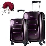 Samsonite Winfield 2 Fashion 2 Piece Set Spinner 20 and 24 With Travel Pillow (One Size, Purple)