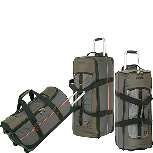 Timberland Luggage Jay Peak 3 Piece Duffle Set, Burnt Olive, One Size
