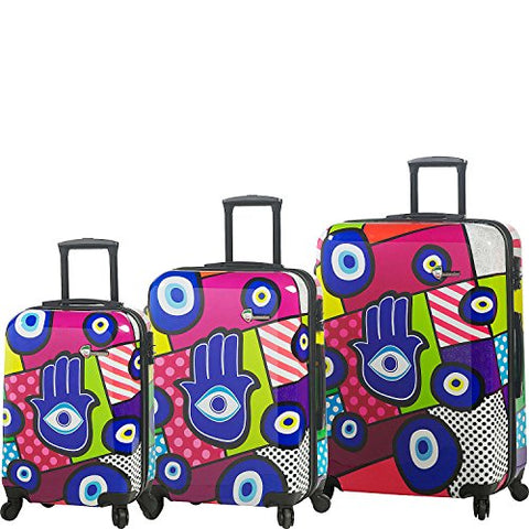 Mia Toro Hamasa Hardside Spinner Luggage 3 Piece Set