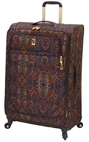 London Fog Soho 29 Inch Expandable Spinner, Brown Paisley, One Size
