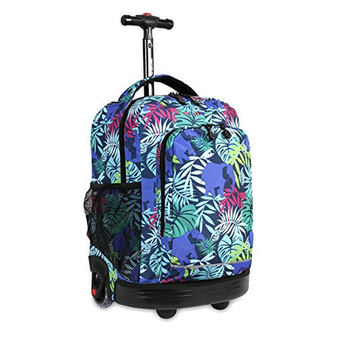 J World New York Kids' Sunny Rolling Backpack, Savanna One Size