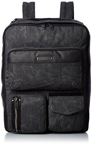 Diesel Men'S Superrgear Touch Gear Back Backpack, Treated Black/Black