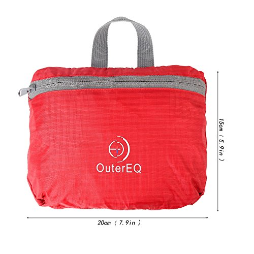 6a4ebf72c7 Shop Outereq 30L Outdoor Travel Backpack Hiking Foldable Daypack Red ...