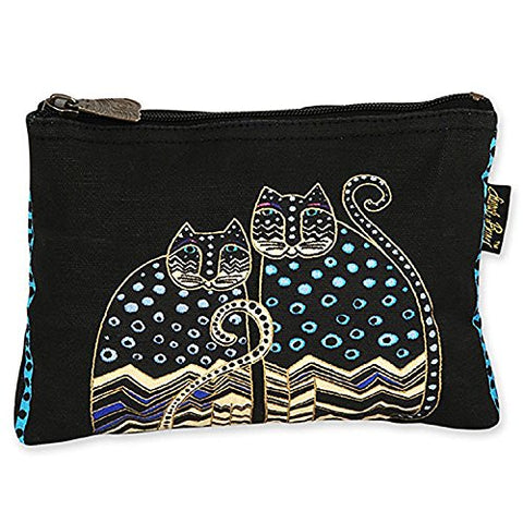 Laurel Burch Feline Minis Cosmetic Bag (Polka Dot A)