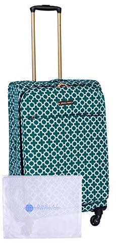 "Jenni Chan Medley 2-Piece Set 24"" Upright Spinner +311 Bag, Green"