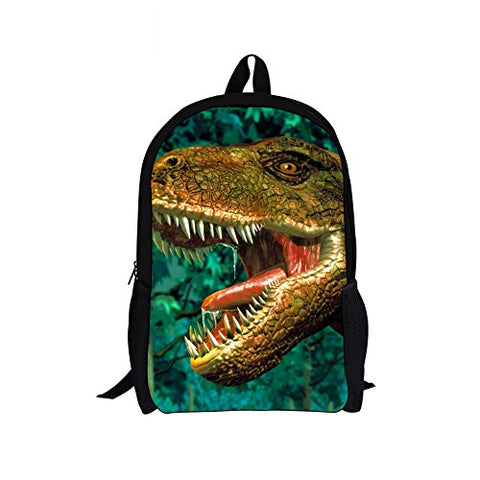 Doginthehole Cool Crazy Dinosaur Print Book Bags For Grade 1-3 Kindergarden Boys