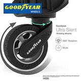 Regent Square Travel - Luggage Set Hard Shell With Spinner Goodyear Wheels - Set of 3 Pieces - Hard Case - Black