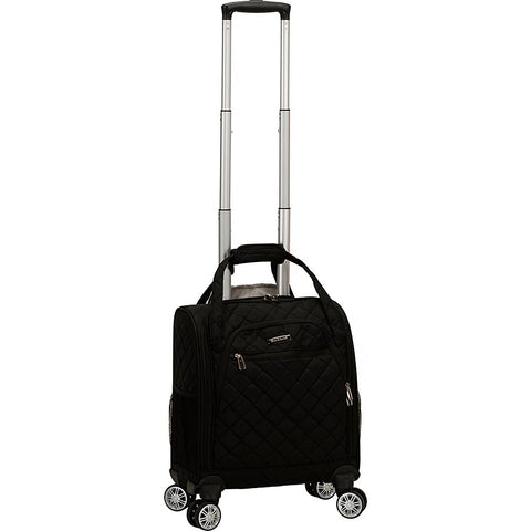 Rockland Melrose Wheeled Underseat Carry On Spinner, Black