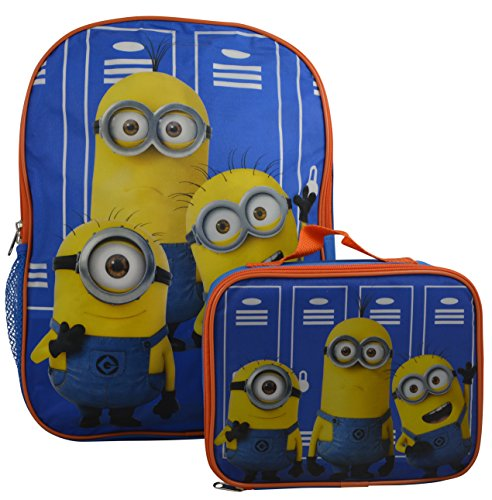 "Despicable Me Minions Kids Set of 16"" Backpack and Minions Insulated Lunch Bag"