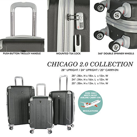 Travelers Club Luggage Premium Build with TSA-Lock, Black