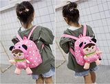 Little-Sweet Cute Kids Toddler Backpack Plush Toy Backpack Snack Travel Bag Pre-School Bags for Girls 1-5Years (Light pink2)
