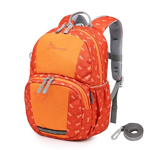 Mountaintop Kids Toddler Backpack,8.7 x 3.7 x 12.2 in (OrangeA)
