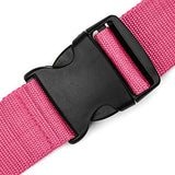 Premium Bright Colored Extra Long Luggage Straps, 2 Pk For The Price Of 1! (Black, Pink (2pk))