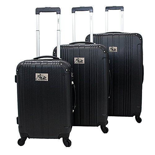 Chariot Monet 3-Piece Hardside Expandable Lightweight Spinner Luggage Set, Black