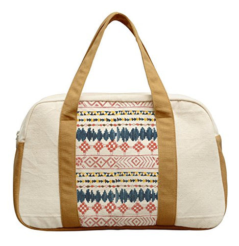 Women'S Ethnic Geometric Pattern-5 Printed Canvas Duffel Travel Bags Was_19