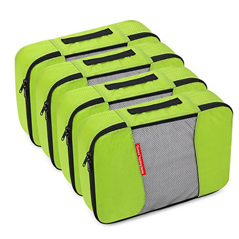 Gonex Packing Cubes Travel Organizer Cubes for Luggage 4xMedium Green
