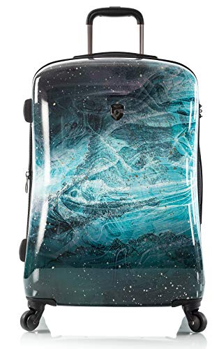 "Heys America Turquoise Stone Fashion 21"" Carry-on Spinner Luggage With TSA Lock"