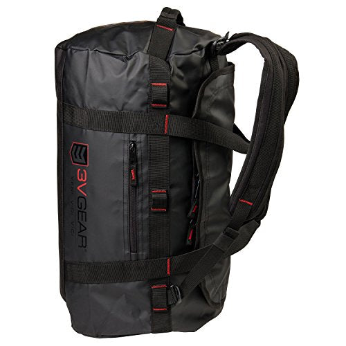 3V Gear Smuggler Adventure Duffel Bag - Heavy Duty Duffel Bag Backpack (45L) - Rucksack Style Shoulder Strapes