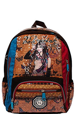 Nicole Lee Hailee Sequined W.R Laptop Backpack V3