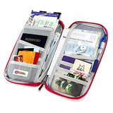 GEARONIC TM Travel Wallet Slim Organizer Security Theft Proof For Money Phone Documents Passport
