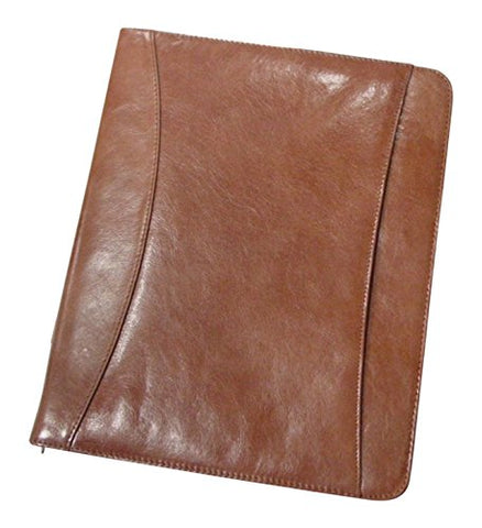 Superdeals Store Bellino Cowhide Leather Zip Around Pad Organizer