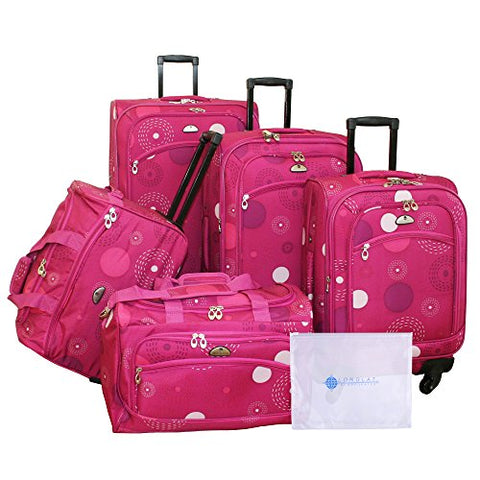 American Flyer Amato 6-Piece Spinner Set, Pink