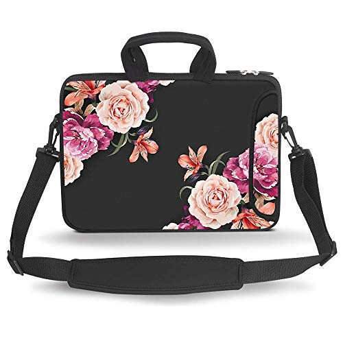HAOCOO 13 13.3 inch Laptop Shoulder Bag Water-Resistant Neoprene Computer Case Sleeve with Handle