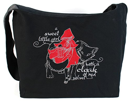 Dancing Participle Red Riding Hood Embroidered Sling Bag