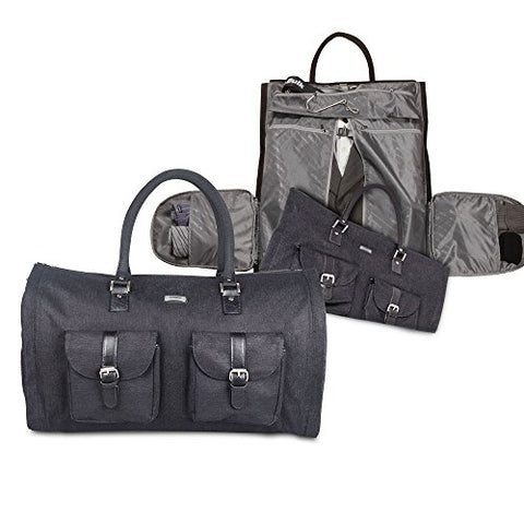 Two-In-One Convertible Travel Garment Bag Carry On Suit Bag, Easily Transforms Into A Sports Duffel