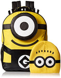 "Despicable Me Despicable Me 16"" Backpack & Matching Beanie Accessory"
