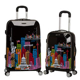 Rockland 2 Pc Polycarbonate/abs Upright Luggage Set, America