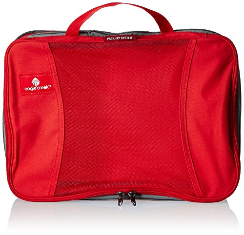 Eagle Creek Travel Gear Pack-it Compression Cube Set, Red Fire