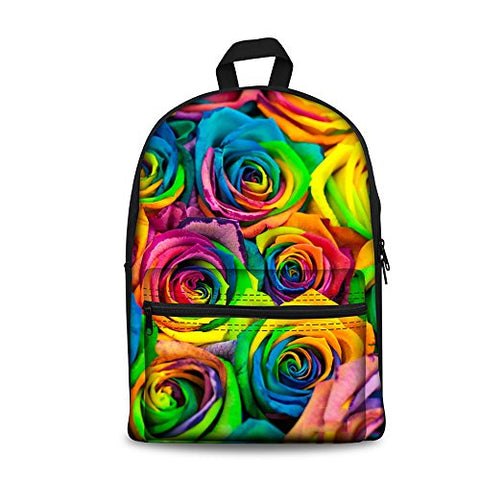 Youngerbaby Kids Xmas Gifts Colorful Flower Print Fashion Backpack For Teen Girls School Bag