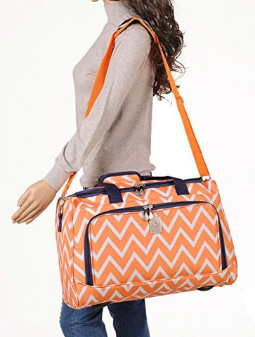 Jenni Chan Aria Madison City Duffel, Orange, One Size