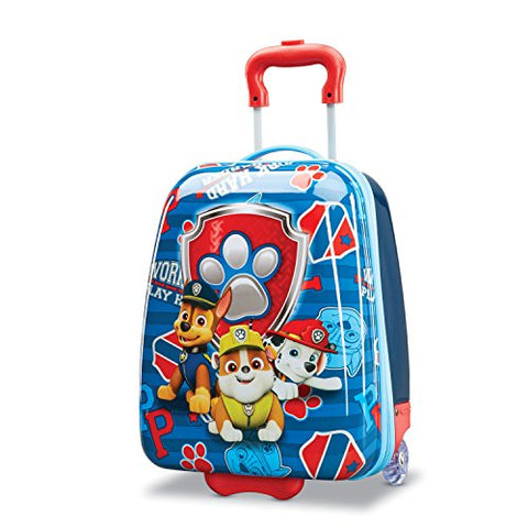 American Tourister Kids' Paw Patrol Hardside Upright 18, Red/Blue
