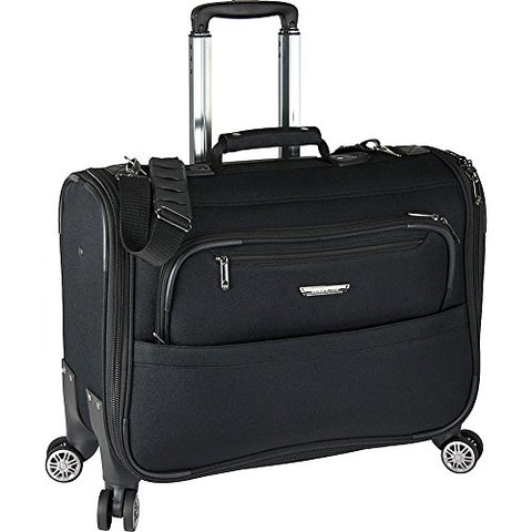 Traveler's Choice Carry-on Spinner Garment Bag, black, One Size