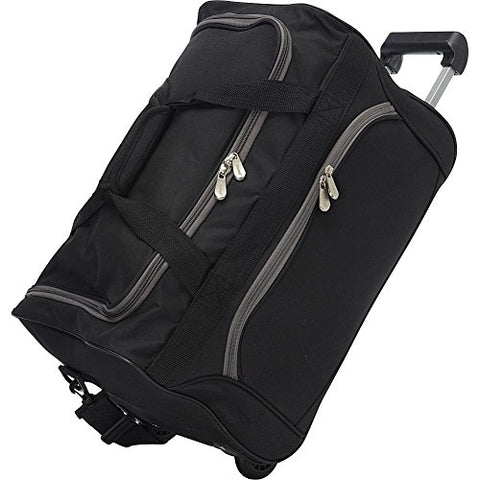 Bellino Rolling Duffle Bag, Black