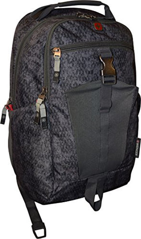 "Wenger Planemo Backpack with 16"" Laptop Pocket, Black Geo"