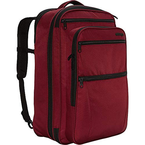 "ebags etech 3.0 Carry-On Travel Backpack With Expandable Sides - Fits 17"" Laptop - (Crimson Red)"